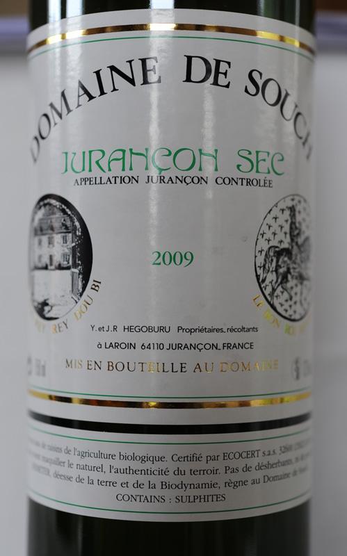 Domaine de Souch à Laroin (Jurançon), 2009